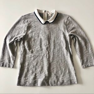 J Crew Peter Pan Collar Sweater Shirt Size M